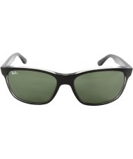 RayBan Rb4181 57 highstreet la parte superior de color negro mate en gris Trasp 6130 gafas de sol