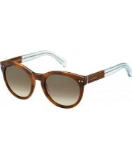 Tommy Hilfiger Damas th 1291-NS m9g J6 Habana gafas de sol azules marrones