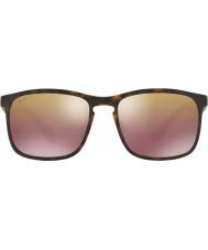 RayBan Rb4264 58 Chromance tecnología mate Habana 894-6b gafas de sol polarizadas espejo marrón