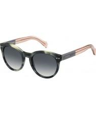 Tommy Hilfiger Damas º 1291-ns MBR 9o gafas de sol verdes rosados Habana