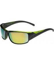 Bolle Keelback negro brillante verde esmeralda gafas de sol polarizadas marrones