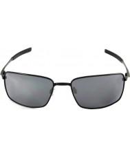 Oakley Oo4075-01 alambre cuadrado negro pulido - gafas de sol negras de iridio