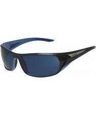 Bolle Blacktail negro brillante azul polarizado gafas de sol azules marinos