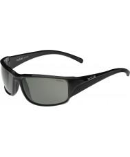 Bolle Keelback brillante modulador negro gafas de sol polarizadas grises