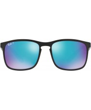 RayBan Rb4264 58 Chromance tecnología negro mate 601sa1 gafas de sol polarizadas de destello azul