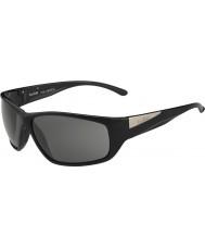 Bolle Quilla modulador negro brillante gafas de sol polarizadas grises