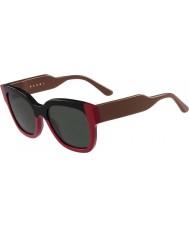 Marni Señoras me604s gafas de sol negras y rojas