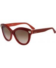 Valentino Señoras v695s gafas de sol rojas inglés