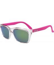 Bolle 527 de recogida de gafas de sol retro esmeralda cristalino brillante marrón rosado