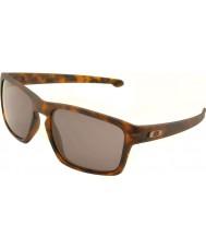 Oakley Oo9262-03 astilla marrón mate concha - gafas de sol de color gris cálido