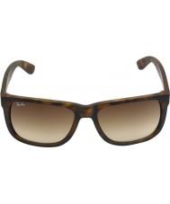 RayBan Rb4165 55 ligero de goma Justin carey 710-13 gafas de sol