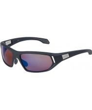 Bolle Cervin satén gris oscuro se levantó las gafas de sol azules