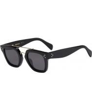 Celine Damas cl 41077-s 807 mil millones de gafas de sol negras