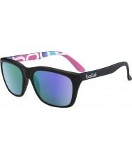 Bolle 527 de recogida retro mate gráficos en negro gafas de sol polarizadas azul-violeta