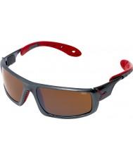 Cebe Hielo 8000 gafas de sol rojas de color gris oscuro