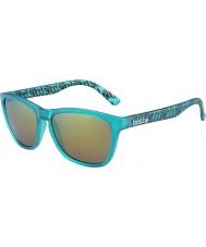 Bolle 437 colección retro mate turquesa polarizado gafas de sol marrones de esmeraldas