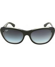 RayBan Rb4227 55 highstreet la parte superior de color negro mate de las gafas de sol del gradiente 60528g transparente