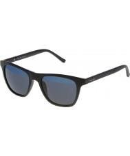 Police Mens caliente 1 s1936v-u28b negro mate reflejado gafas de sol azules