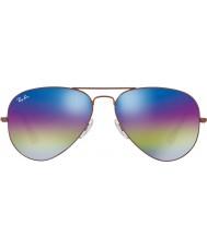 RayBan RB3025 gafas de sol de aviador 58 9019c2 bronce oscuro grande de metal