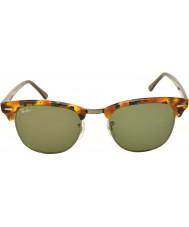 RayBan RB3016 51 clubmaster manchado negro Habana 1157 gafas de sol