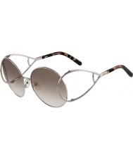 Chloe plata y marrón de las señoras de las gafas de sol ce124s