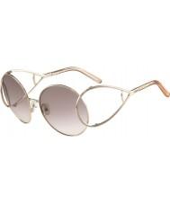 Chloe Señoras ce124s gafas de sol de oro y melocotón