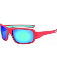 Cebe Changpa mate de color rosa 1500 gafas de sol azules de destello gris espejo