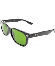 RayBan Junior Rj9052s 47 nuevos Wayfarer gafas de sol negras y brillantes 100-2