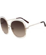 Chloe Señoras ce126s oro rosa y gafas de sol marrones