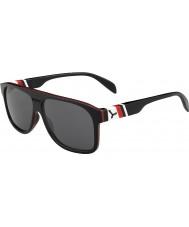 Cebe Chicago negro rojo 1500 gafas de sol de espejo gris de flash
