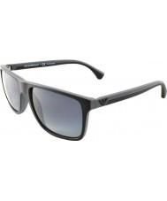 Emporio Armani Ea4033 56 modernos negros grises 5229t3 goma gafas de sol polarizadas