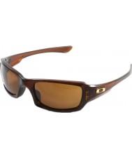 Oakley Oo9238-07 cinco cuadrados rootbeer pulido - gafas de sol de bronce oscuro