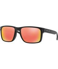 Oakley Oo9102-51 Holbrook negro mate - rubí iridio gafas de sol polarizadas