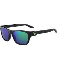 Cebe Hacker negro brillante verde 1500 gris espejo de flash gafas de sol verdes
