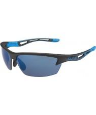 Bolle gafas de sol perno negro mate rosa-azul