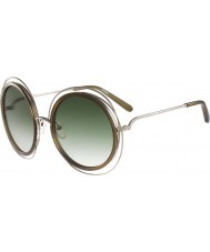 Chloe Señoras de las gafas de sol de color caqui ce120s oro Carlina