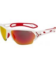 Cebe S-pista grande mates gafas de sol rojas blancas