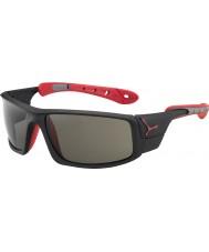 Cebe 8000 gafas de sol de hielo mate pico variochrom rojo negro