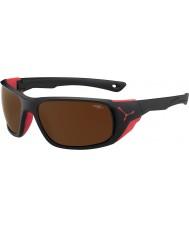 Cebe JORASSES grandes negro rojo 2000 gafas de sol de espejo de destello de color marrón mate
