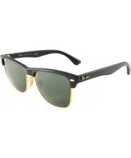 RayBan Rb4175 57 clubmaster de gran tamaño demi brillante negro y oro 877 gafas de sol