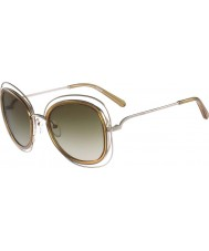Chloe Señoras ce123s carlina gafas de sol de oro brillantes