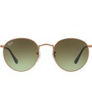 RayBan RB3447 gafas de sol brillante bronce 9002a6 medio 53 de metal redondo