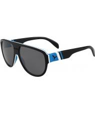 Cebe Miami negro azul 1500 gafas de sol de espejo gris de flash
