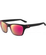 Cebe Hacker negro brillante destello gris 1500 gafas de sol de espejo de color rosa