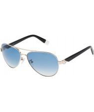 Furla Señoras su4339s-300 de jade brillante de oro rosa reflejado gafas de sol de plata