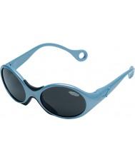 Cebe 1973 (edad 1-3) metálico brillante de color azul pálido 2000 gafas de sol grises