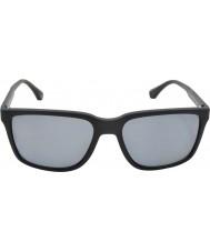 Emporio Armani Ea4047 56 modernas gafas de sol polarizadas de caucho negro 506381