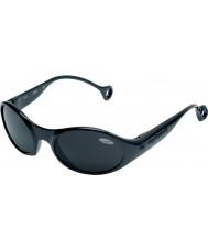 Cebe 1977 (edad 3-5) brillante brillantes negros 2000 gafas de sol grises