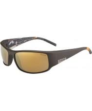 Bolle Rey mate de mar marrón gafas de sol polarizadas de oro del interior