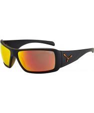 Cebe gafas de sol de color naranja negro mate Utopy
